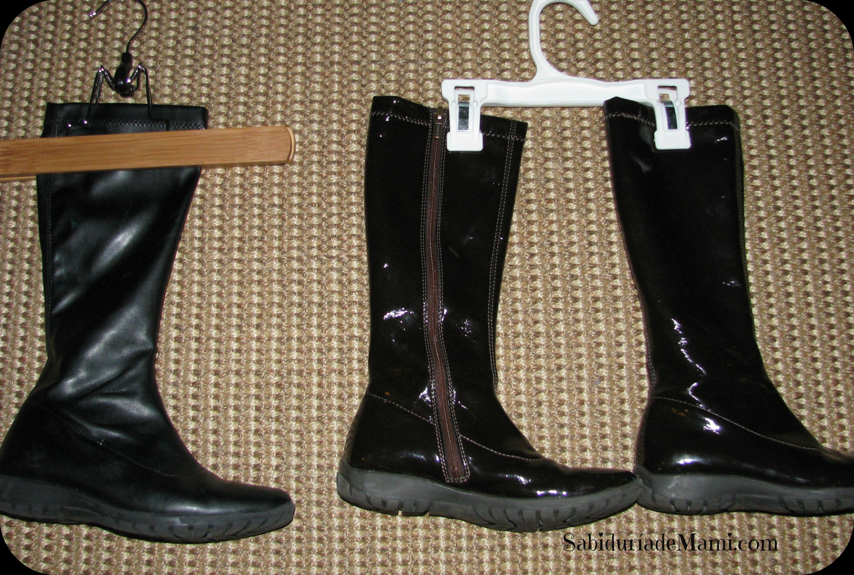 5 sabitips f ciles para guardar las botas sabidur a de mami for Ganchos para colgar botas