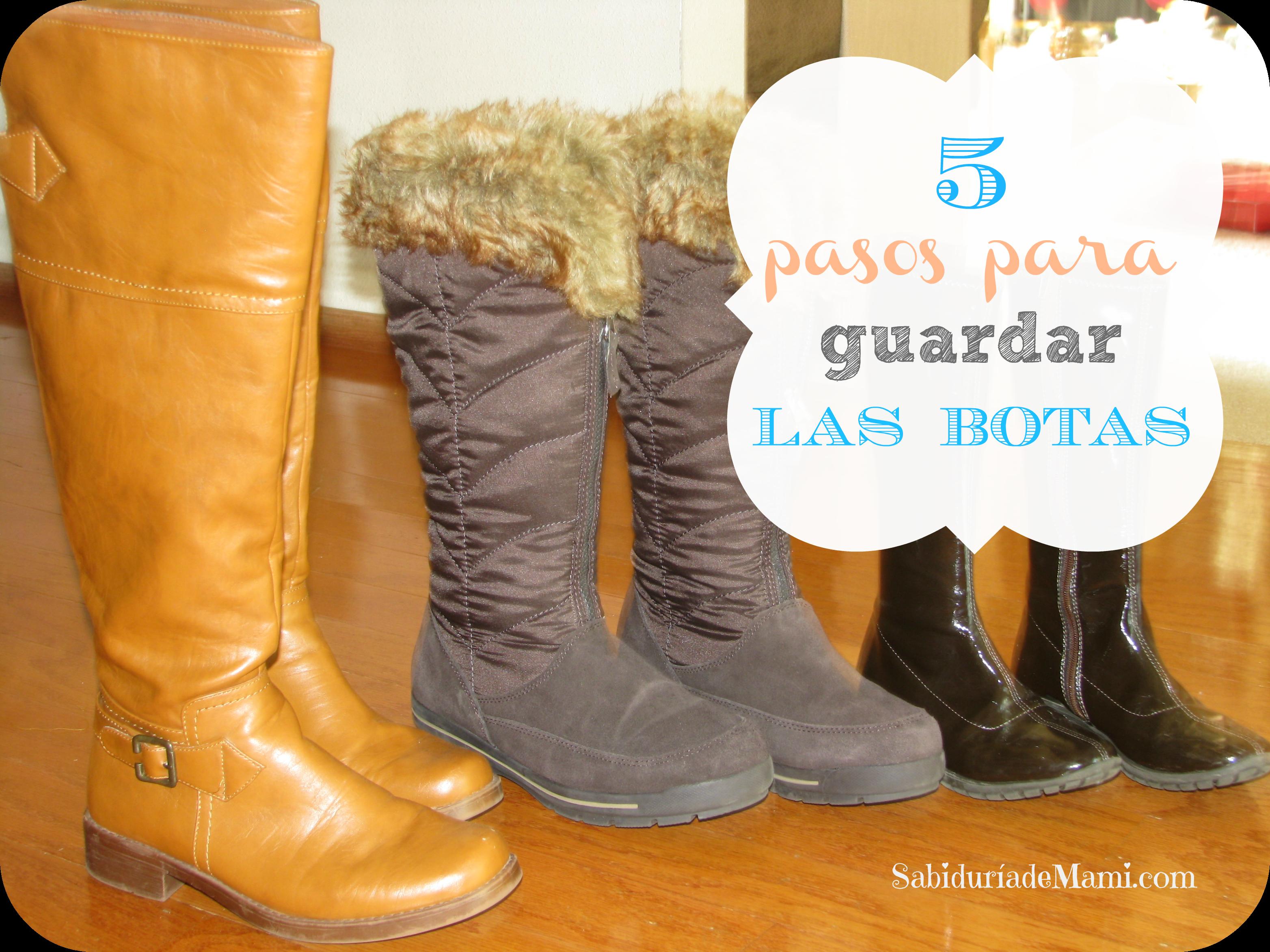 5 sabitips f ciles para guardar las botas sabidur a de mami - Como guardar zapatos ...