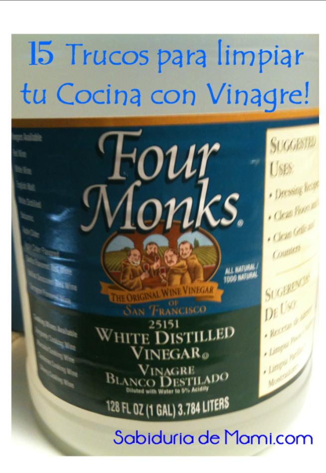 15 trucos favoritos para limpiar con vinagre en la cocina - Como limpiar las baldosas de la cocina ...