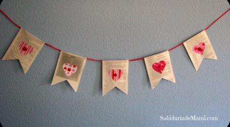 Banderines de Corazones {Hazlo Tú Misma}