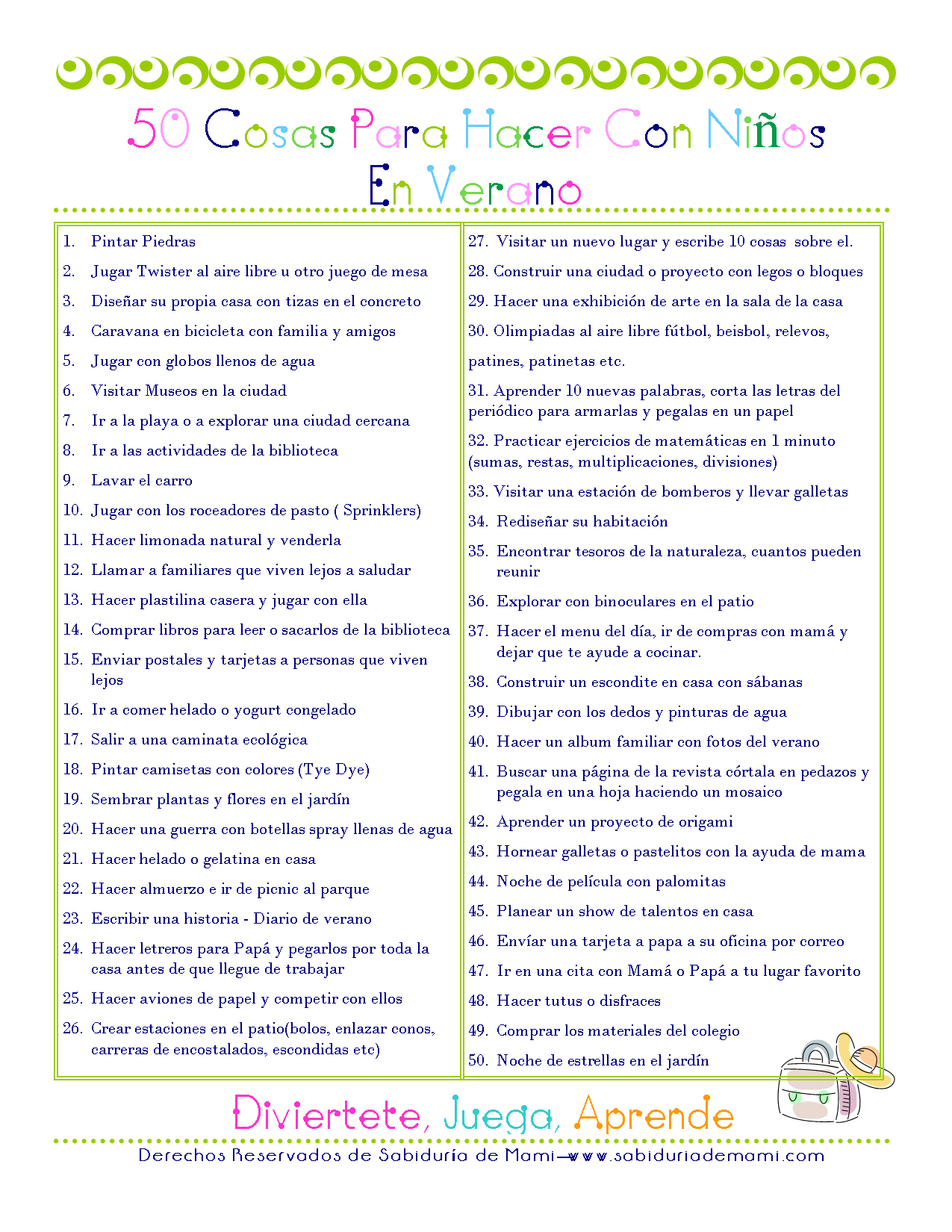 Lista de 50 cosas para hacer con ni os en verano - Cosas para hacer en casa ...