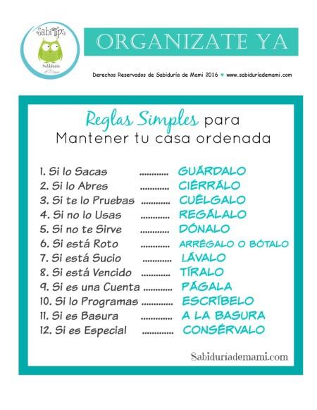 12 reglas simples para tener tu casa ordenada sabidur a de mami - Libro 21 dias para tener tu casa en orden ...
